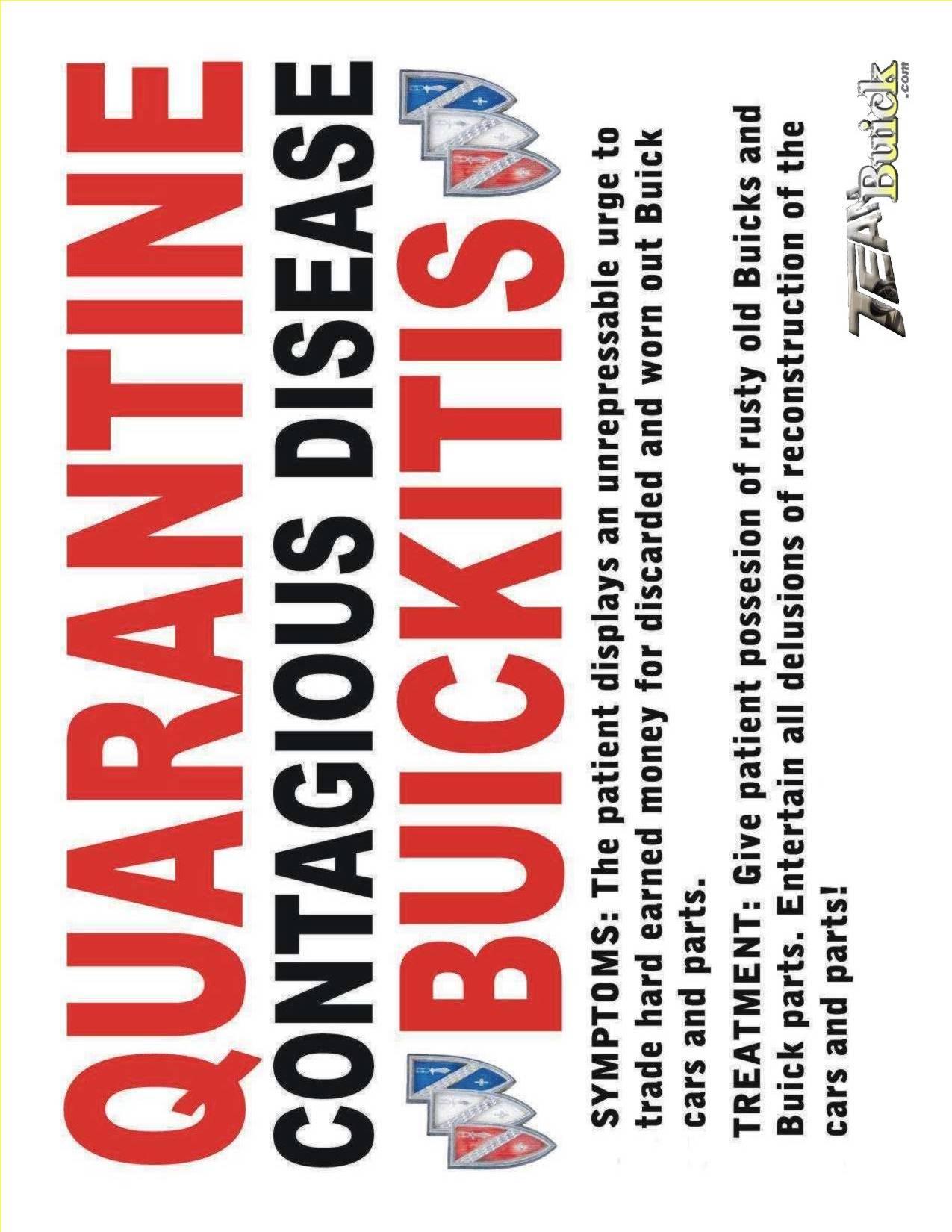 Quarantine, Contagious Disease, Buickitis