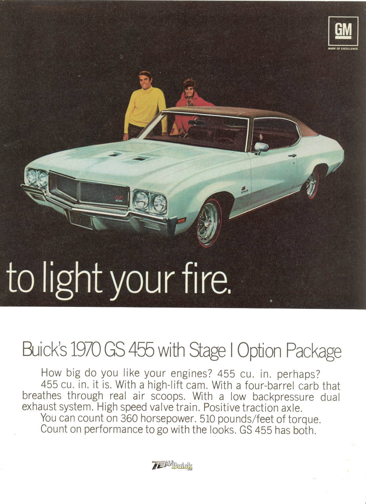 1970 GS 455 ad poster