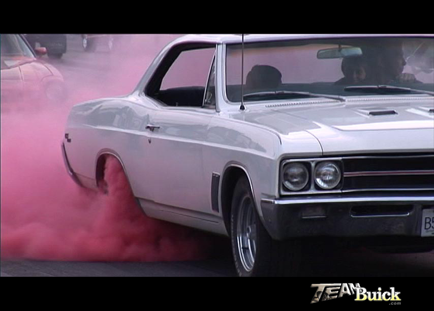 1967 Buick GS400 with red smoke tires!