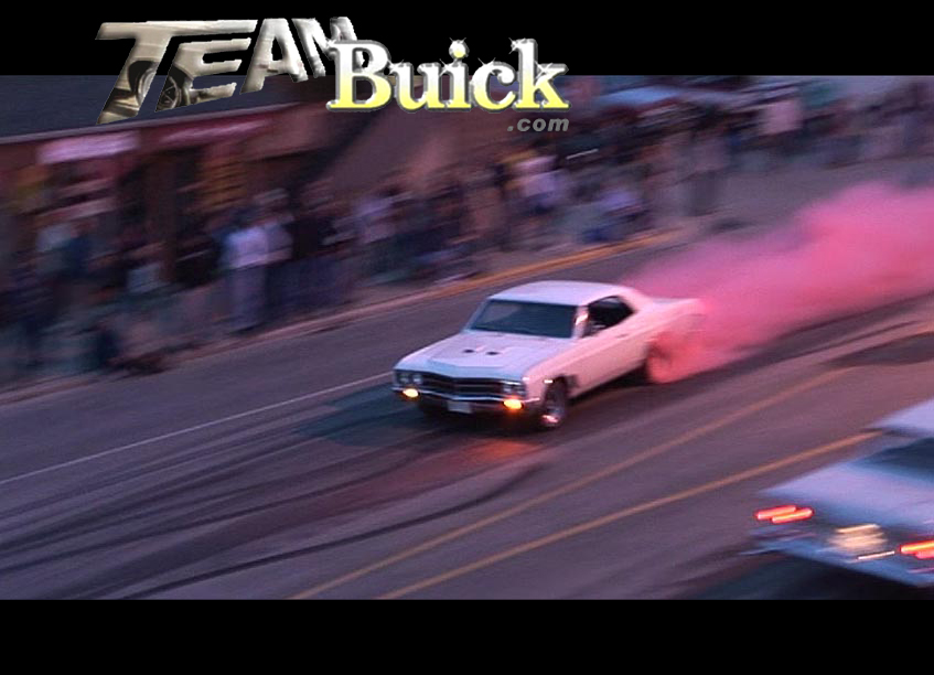 1967 Buick GS400. Downtown with red smoke tires!