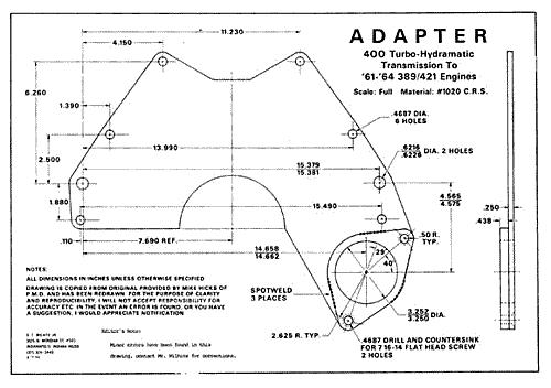 Pontiac Transmission Adaptor