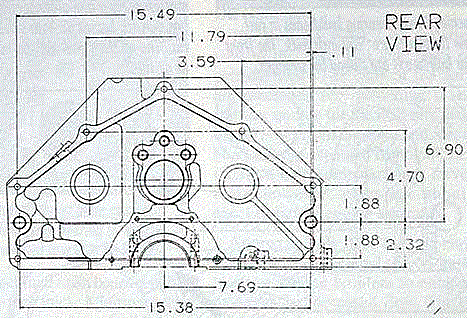 SBC bellhousing diagram