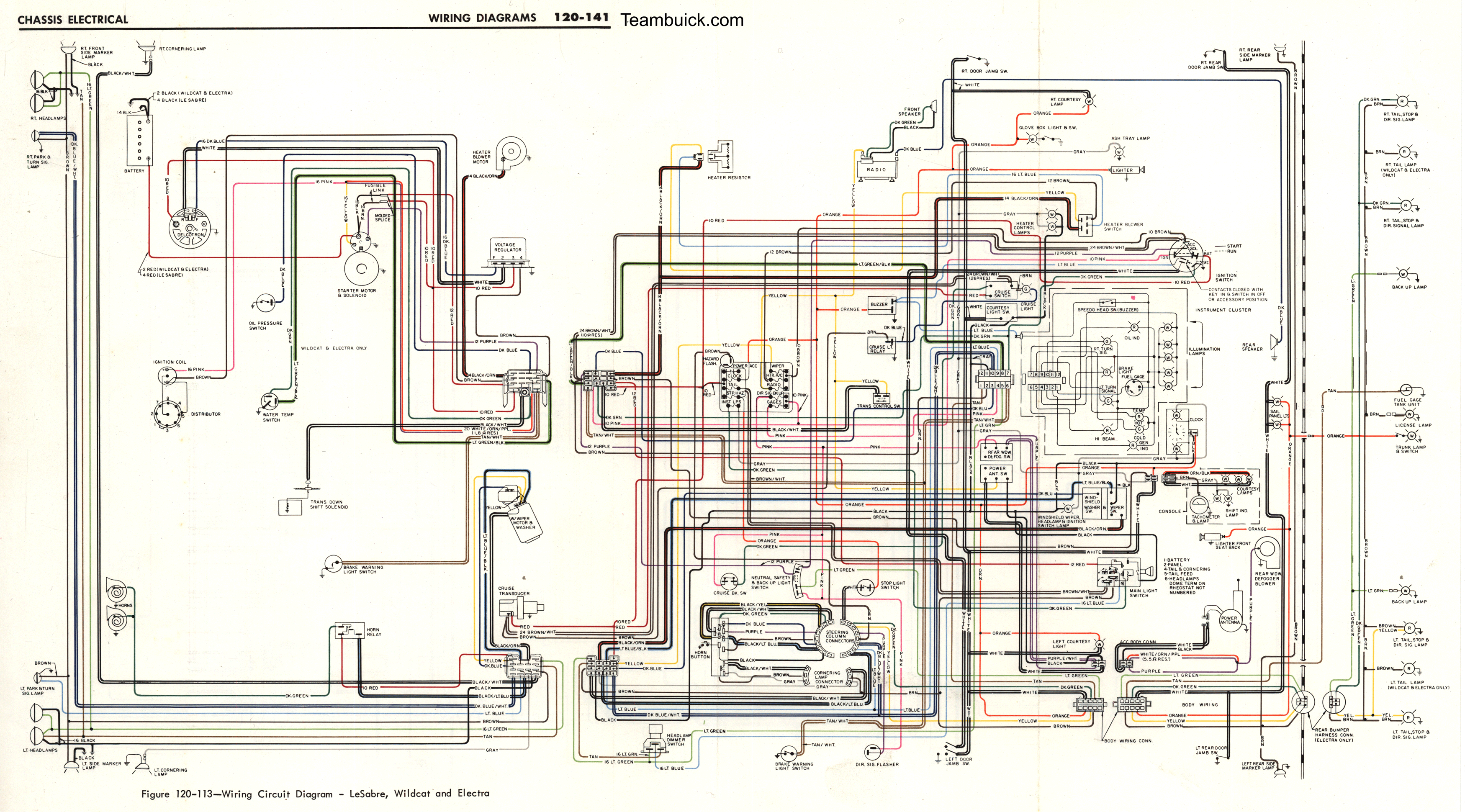 Wiring Circuit Diagrams  1968 Buick Chassis Manual