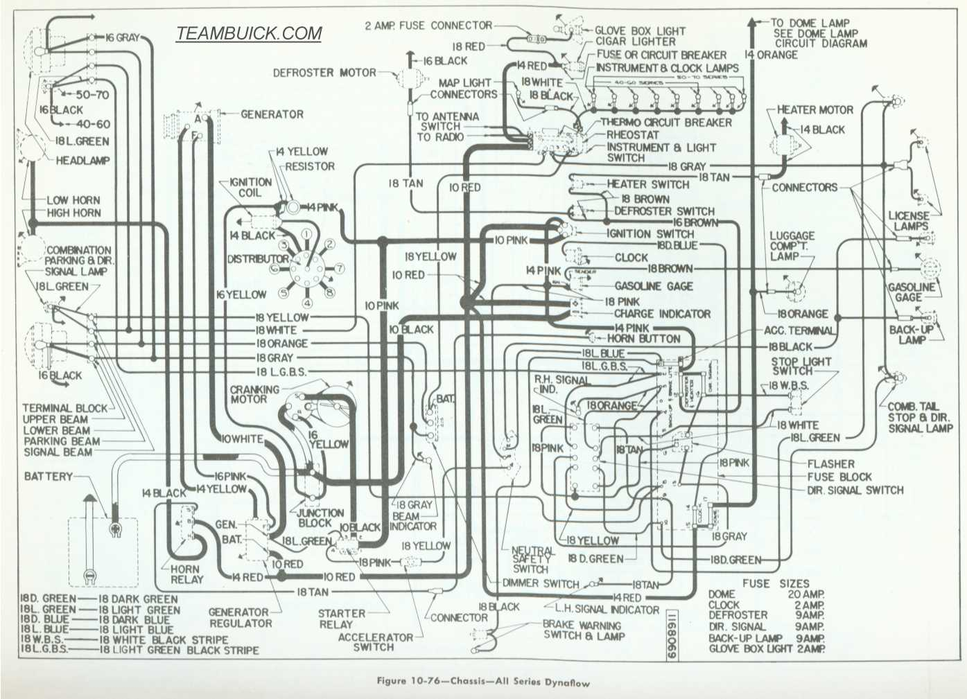 1955 Buick Wiring Diagrams  Dynaflow
