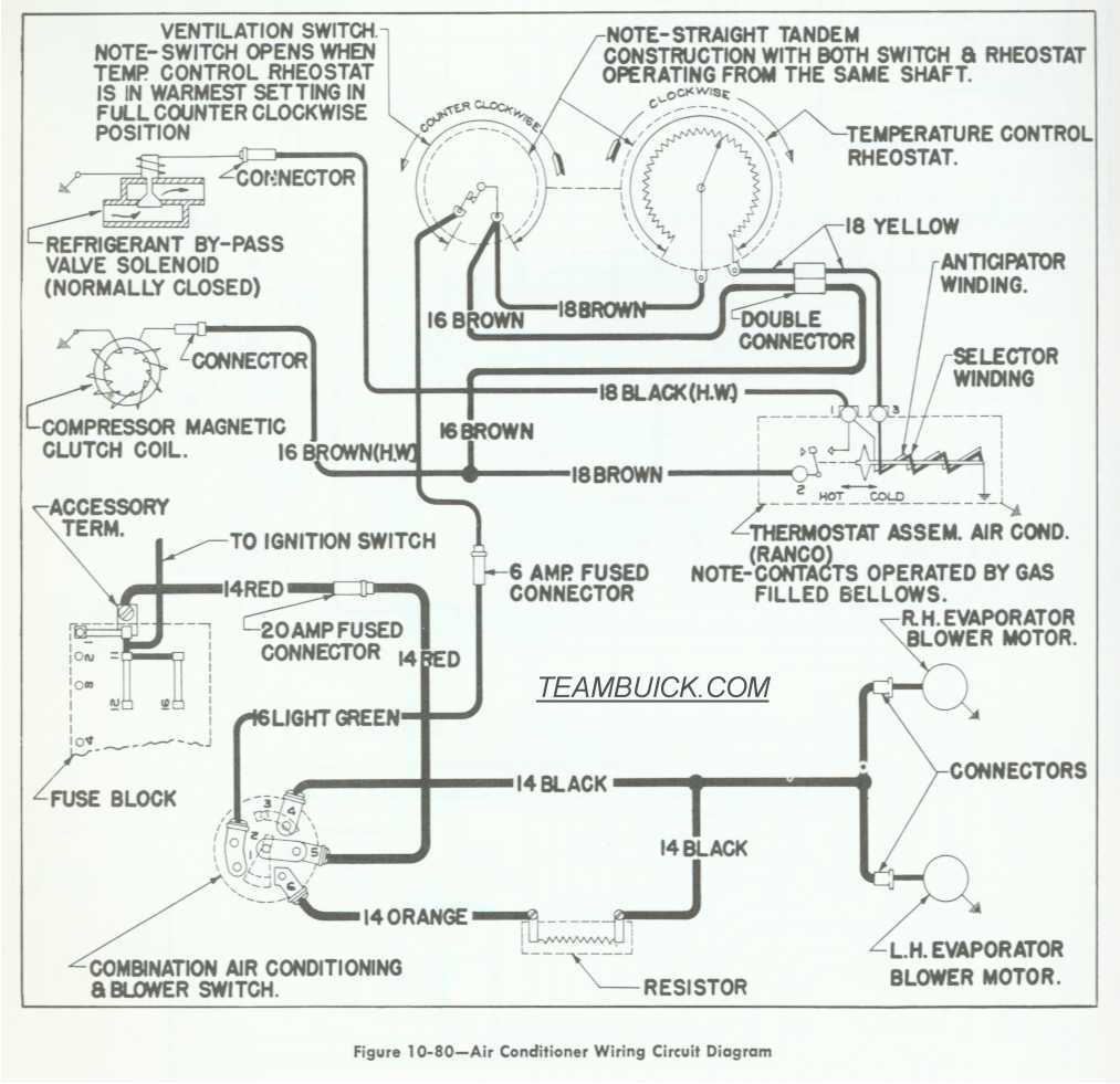 1955 Buick Wiring Diagrams  Air Conditioning