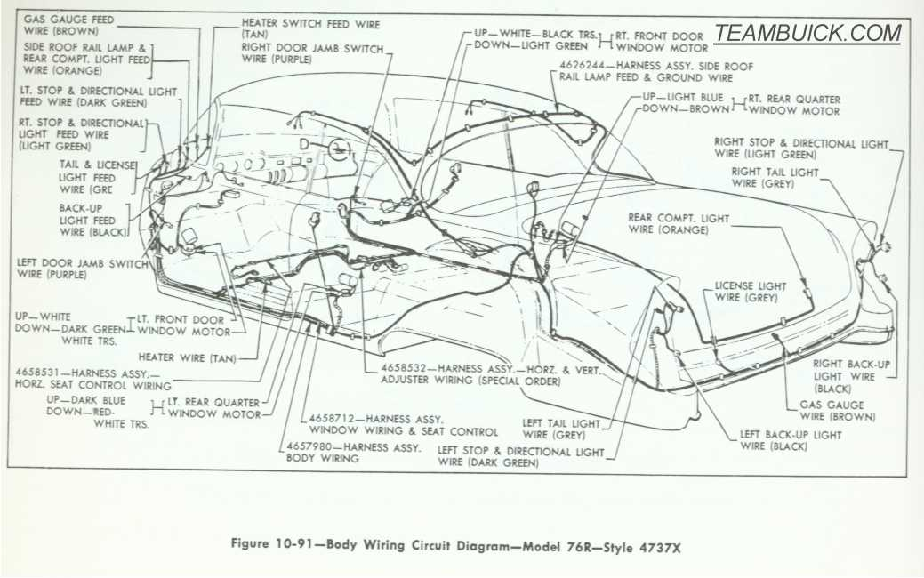 1955 buick body wiring diagrams model 76r rh teambuick com