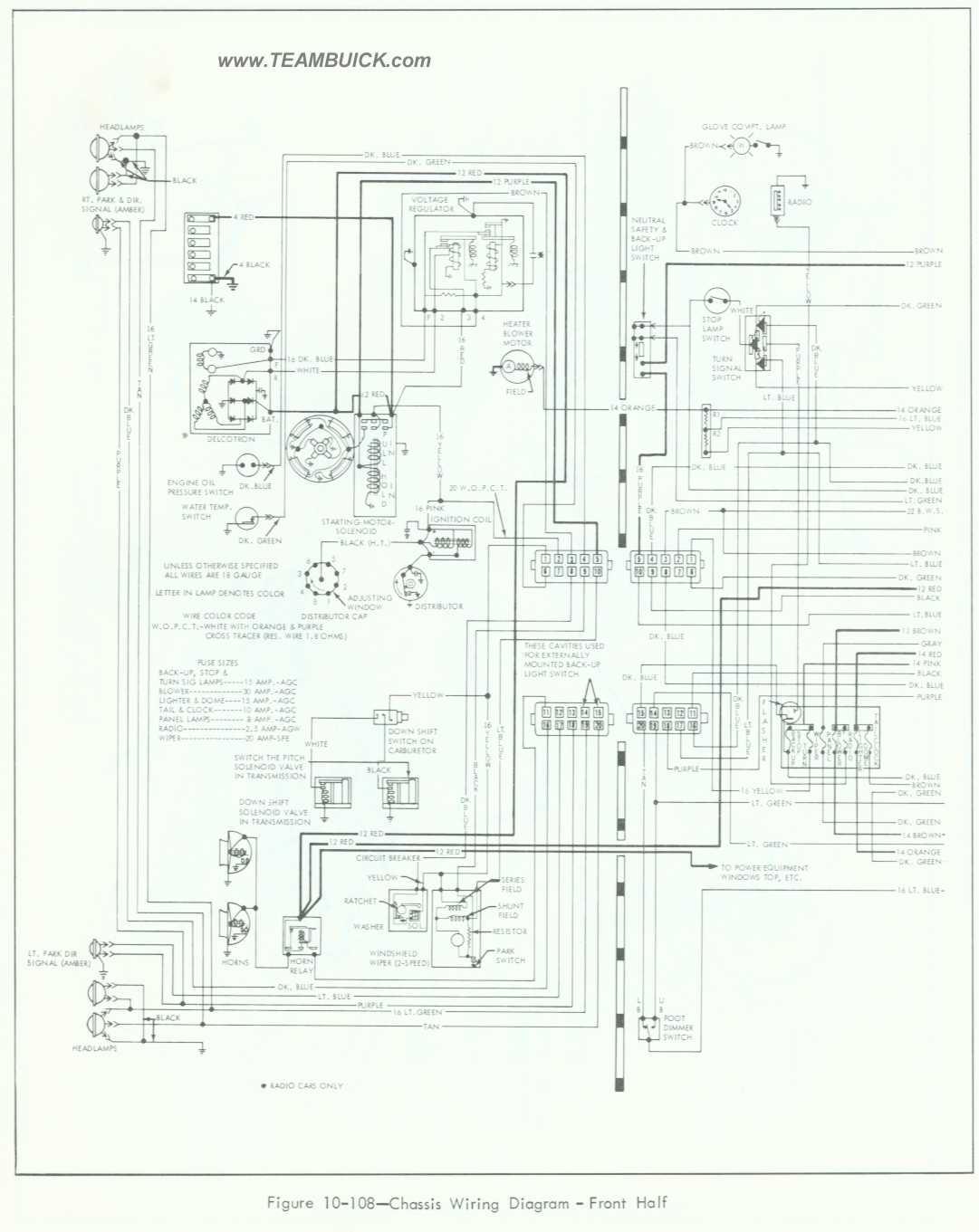 1964 Buick Special - Skylark Wiring Diagram, Front Half