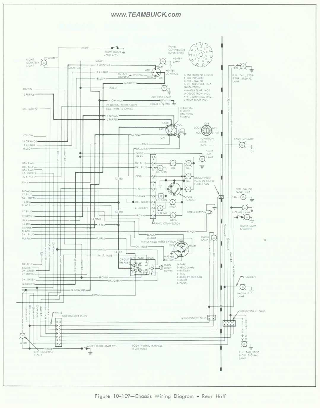 1964 buick special skylark wiring diagram rear half rh teambuick com 96 Buick  LeSabre Wiring-