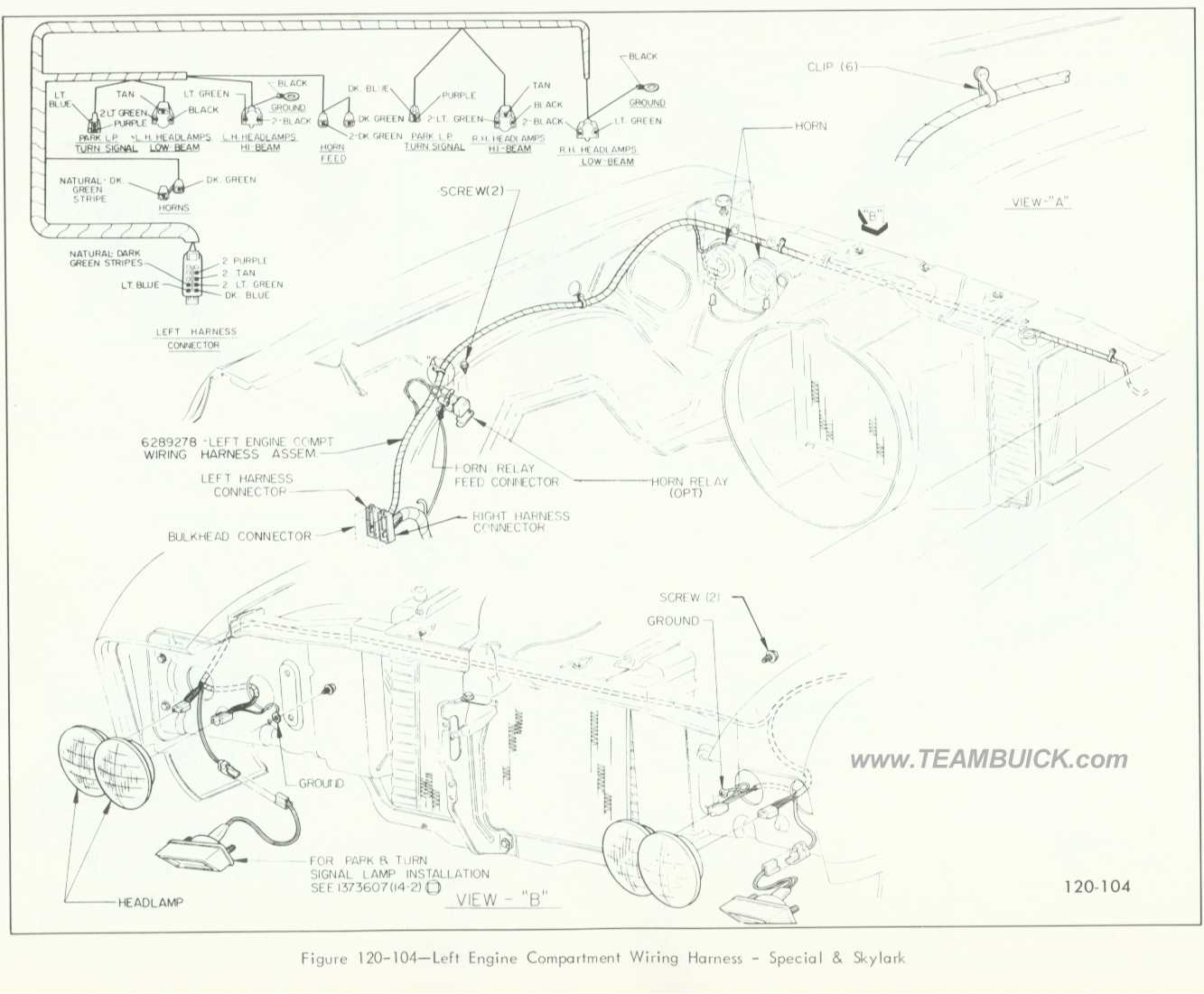 1966 Buick Skylark Wiring Harness Layout Diagrams 1963 Special And Left Engine Compartment 1969
