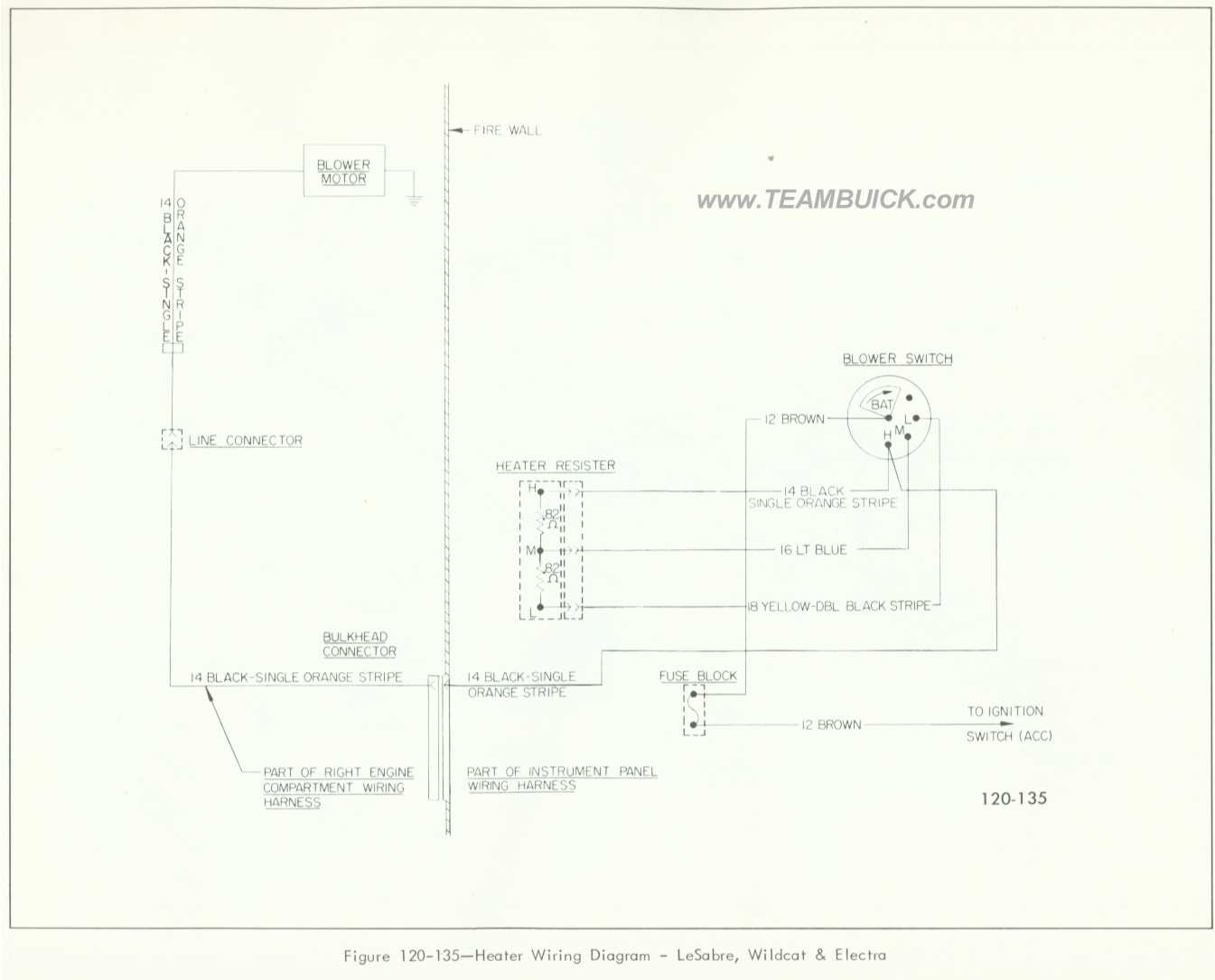 1966 Buick Lesabre  Wildcat  Electra  Heater Wiring Diagram