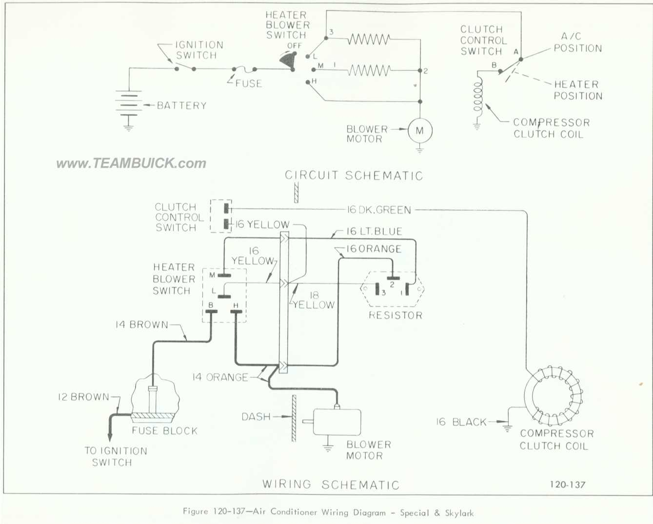 1966 buick special  skylark  air conditioner wiring diagram