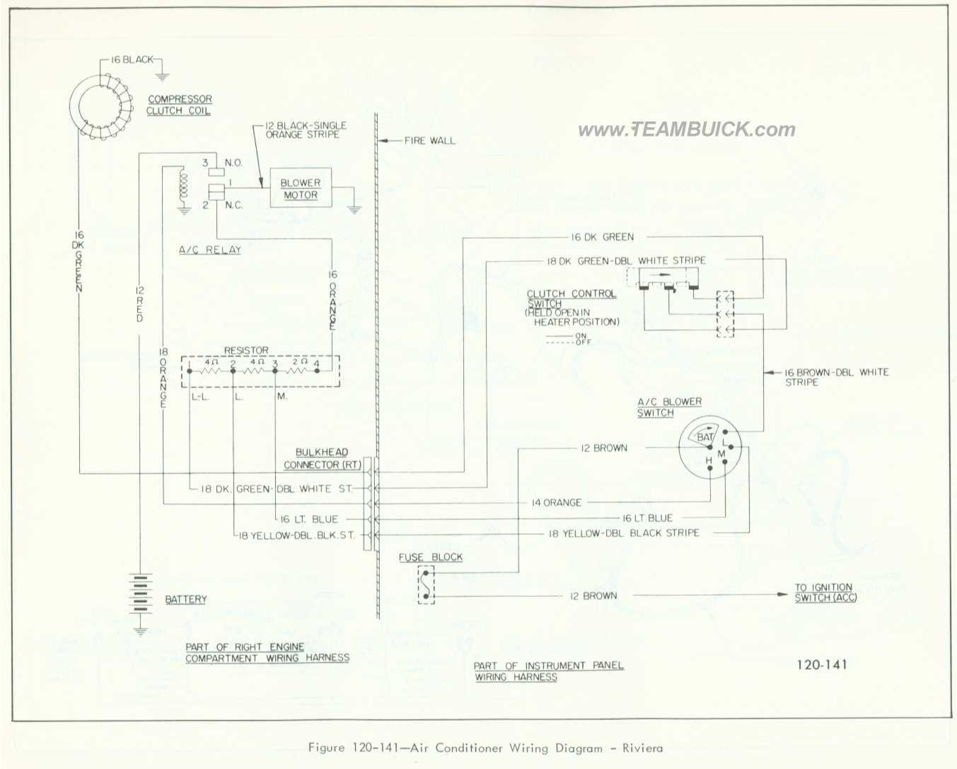 1966 Buick Riviera  Air Conditioner Wiring Diagram