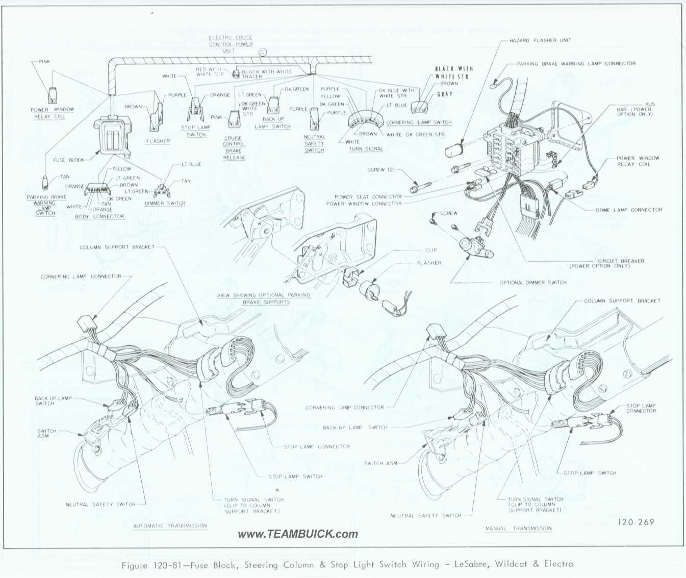 2000 Buick Lesabre Power Steering Diagram Fuse Box 1995 1967 Wildcat Electra Block Column Rh Teambuick Com