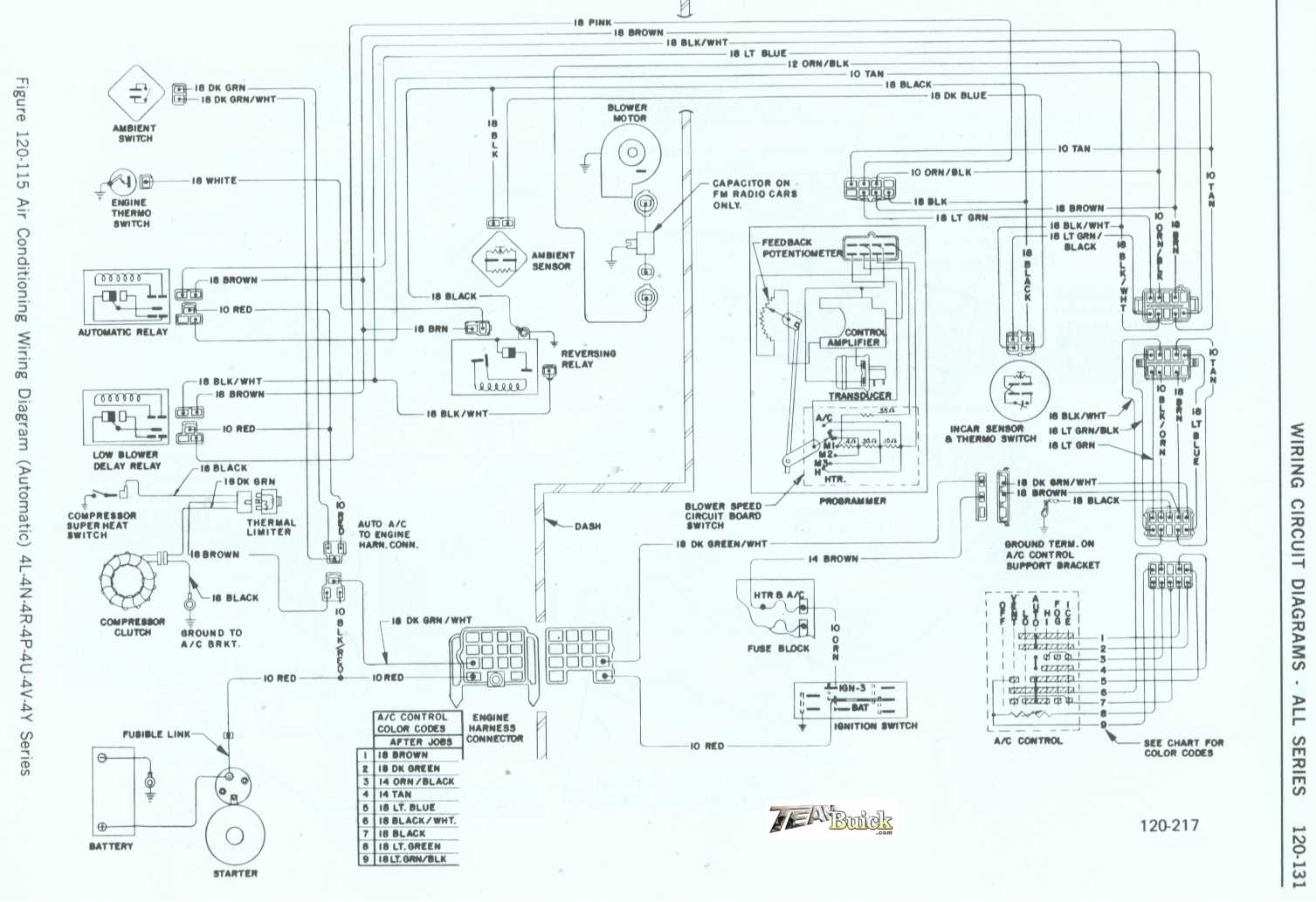 1972 buick air conditioner wiring diagram automatic 4l. Black Bedroom Furniture Sets. Home Design Ideas